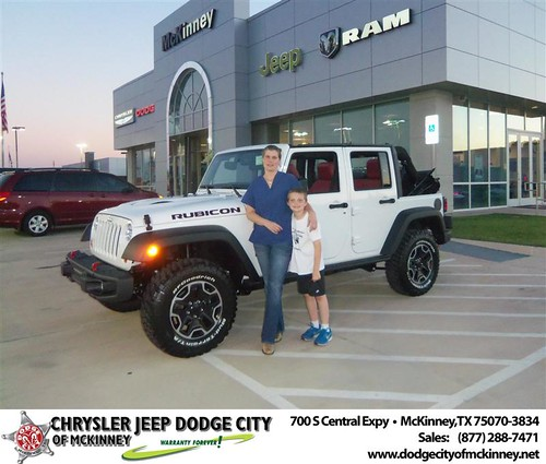 Dodge City of McKinney would like to say Congratulations to Pamela Goolsby on the 2013 Jeep Wrangler from Joe Ferguson by Dodge City McKinney Texas