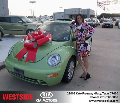 Thank you to Sherri Parker on the 2005 Volkswagen Beetle from Gilbert Guzman and everyone at Westside Kia! by Westside KIA