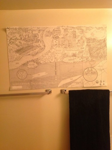 Groundwater cycles bathroom map.