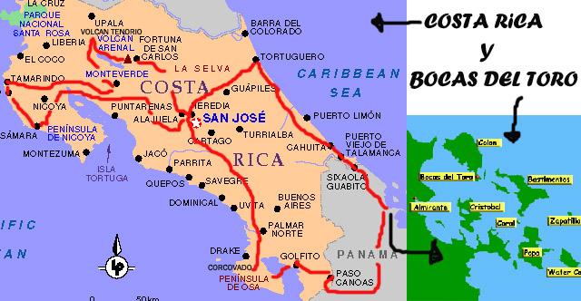 Itinerario Costa Rica por libre