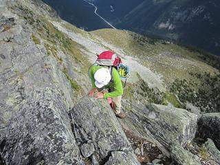 Mary going up Mt. Abbott