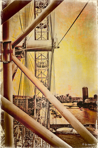 Image of the London Eye with texture added