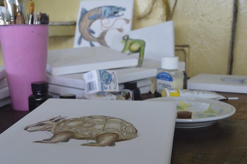 menagerie paintings in progress