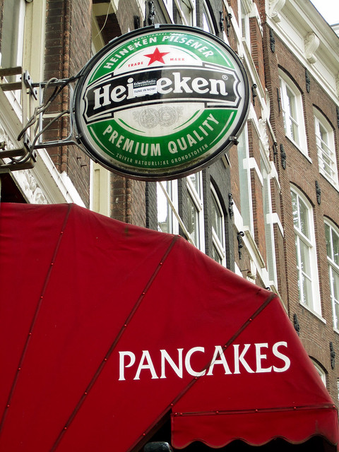Heineken and pancakes, what an excellent pair.