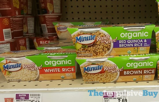 Minute Organic Rice (White, Brown, and Red Quinoa & Brown Rice)
