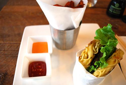 Ramen Burger plate