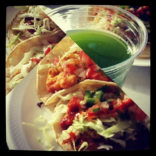Ricky's Fish Tacos is the hit!  Try the Mint-Cucumber drink--it will change your life. #rickysfishtacos #lafoodtrucks #bombdotcom by Jennifer O'Connell
