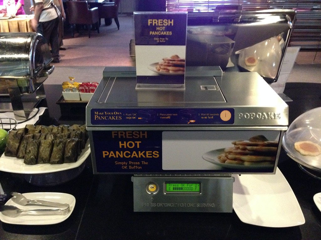 Pancake Machine at Thai Airways Lounge