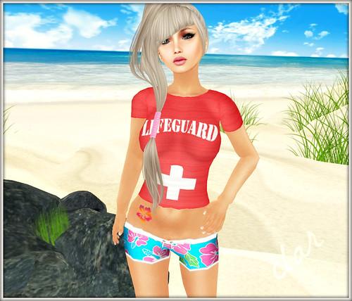 Love Zombie Lifeguard Graphic Tee