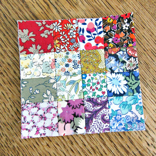 13 patchwork square completed