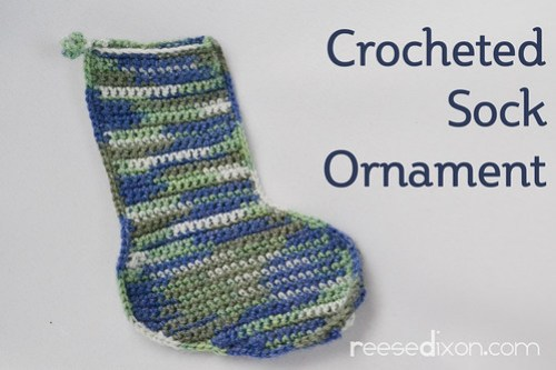 Crocheted Sock Ornament Tutorial