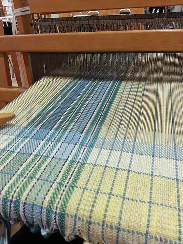 Handweaving cotton tea towel counterbalance loom