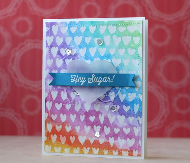Simon Says Stamp~Drawn Hearts Background