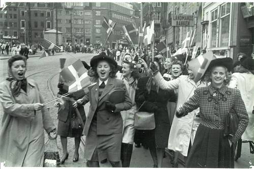 Celebrating the liberation of Denmark.