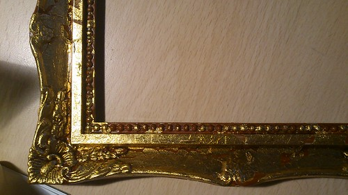 detalle marco forrado en pan de oro by alialba
