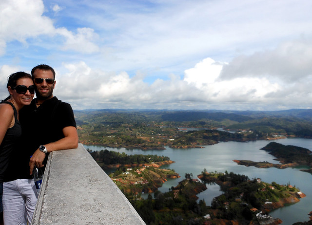 Views from the top of La Piedra in Guatape, Colombia.
