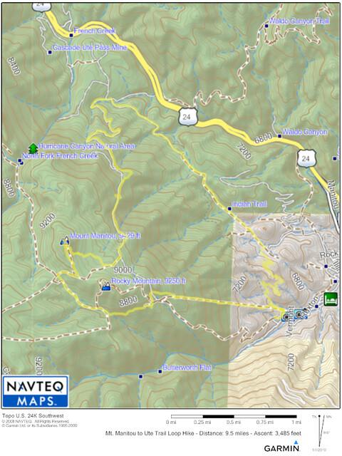 Mt Manitou Topo Map
