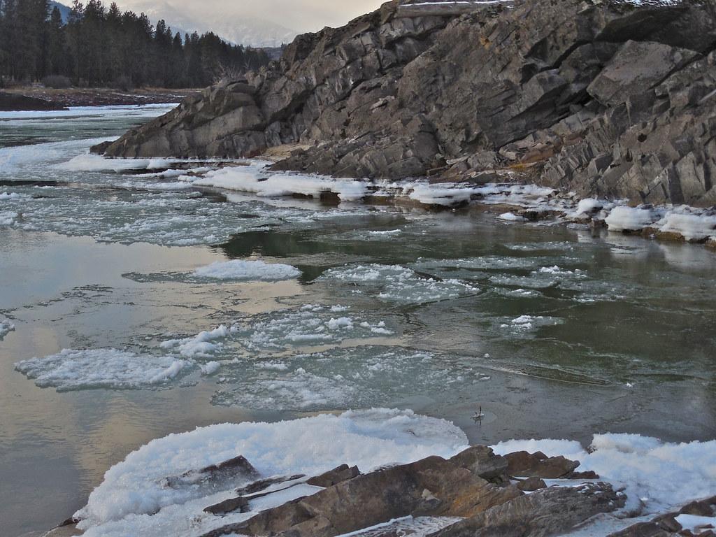 Ice on the Clark Fork