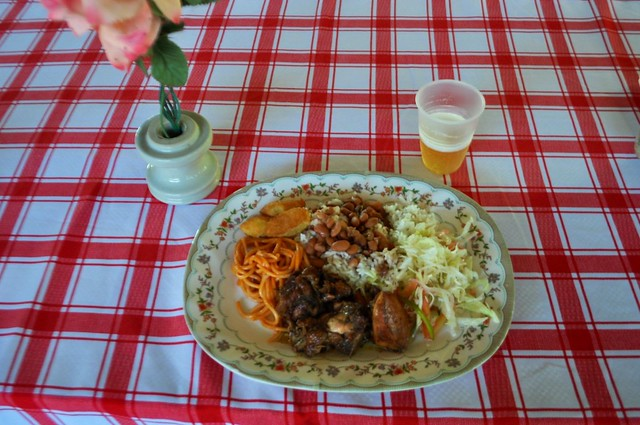 Typical Dominican Lunch Served at Parada Basilio y Ramona Following the Horseback Ride