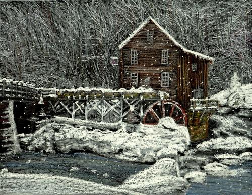 Snowfall at Glade Creek