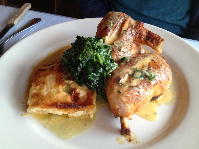 Free range half chicken - Curbside Cafe