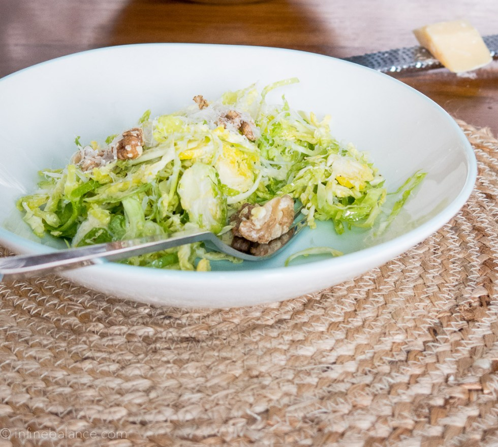 Raw Brussels Sprout Salad | www.infinebalance.com