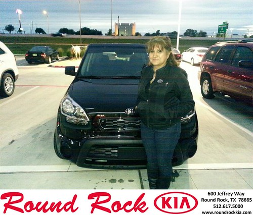 Thank you to Leticia Martinez on your new 2013 #Kia #Soul from Michael Glass and everyone at Round Rock Kia! #NewCarSmell by RoundRockKia