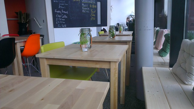 Wooden Tables throughout