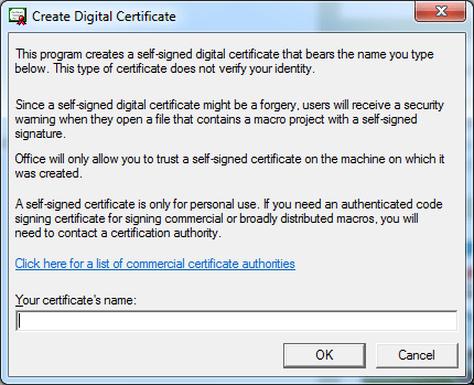 ใส่ชื่อ Certificate ที่ต้องการ ตั้งตามใจชอบเลย