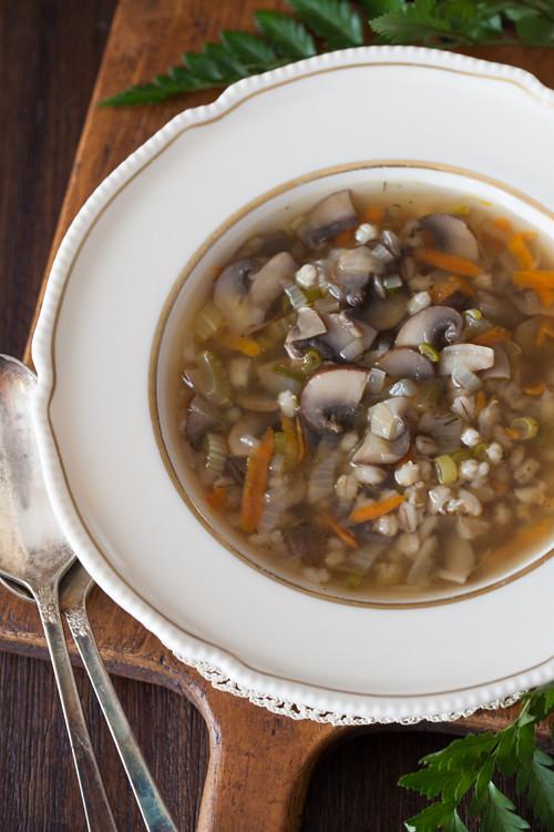 Mushroom Barley Soup 2