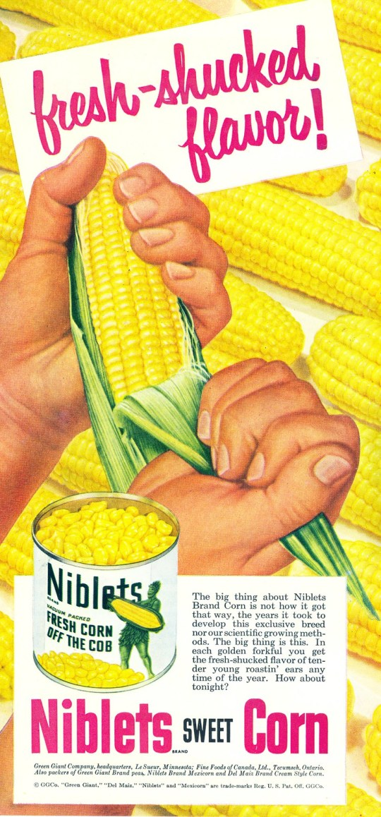 Green Giant Company Niblets Brand - published in Good Housekeeping - March 1951