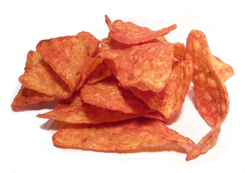 Limited Time Only Ketchup Doritos (Canada) Closeup