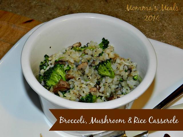 Broccoli, Mushroom & Rice Casserole (7)