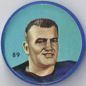 1963 Humpty Dumpty / Nalley's Potato Chips CFL Plastic Football Coin (light blue cap) - CORNEL PIPER #89-HD (Winnipeg Blue Bombers / Canadian Football League) (cap #5)