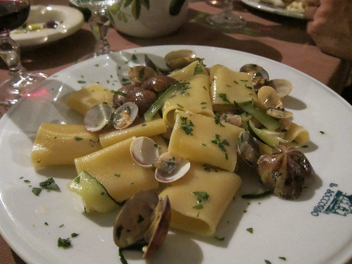 Paccheri with Clams and Zucchini