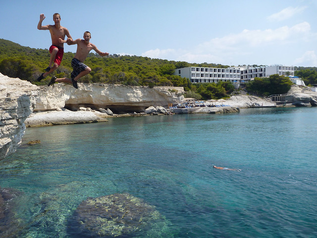 Jacob and Matthew are picture perfect at the Aegina cliffs