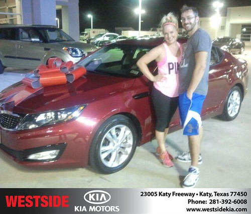Thank you to Jonathan Bowie on the 2013 Kia Optima from Gil Guzman and everyone at Westside Kia! by Westside KIA