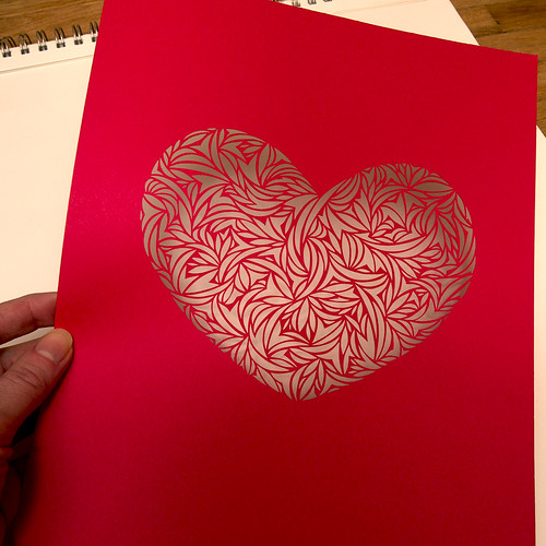 Heart paper cut work-2