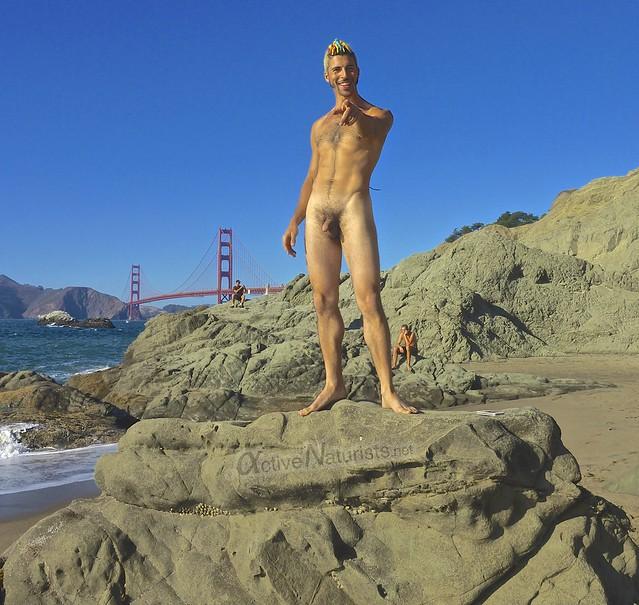 naturist 0000 Baker Beach, San-Francsico, CA, USA