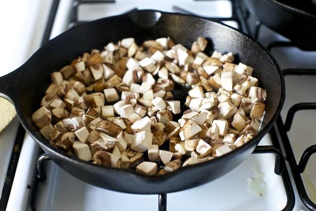 cook the mushrooms until liquid seeps