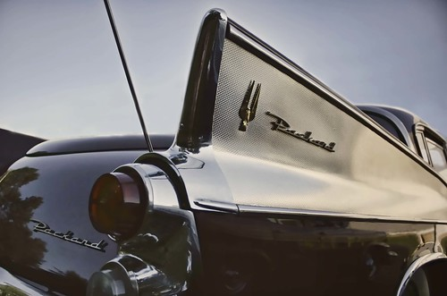 Focus On The Fins. Classic Packard tailfin photo copyright Jen Baker/Liberty Images; all rights reserved, though pinning to this page is okay. Thanks!