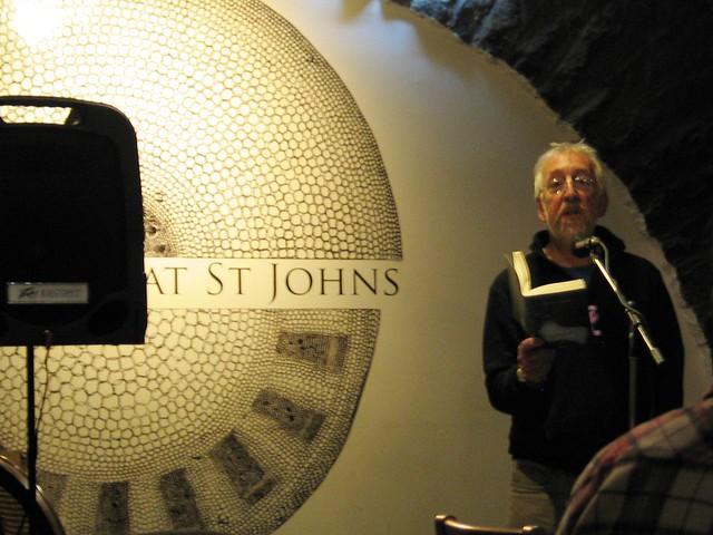Headline poet Gerry Loose at Shore Poets October
