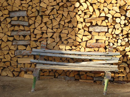 Wood Pile with bench by dibach