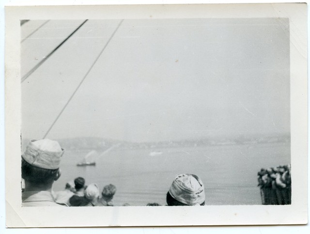 "Korean War Vets ""Fireboat Welcome"", Seattle, 1951 (2 of 7)"