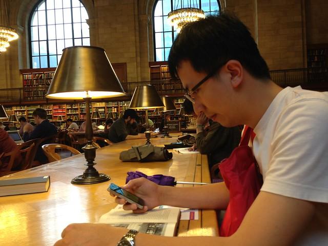 體驗圖書館讀書的感覺