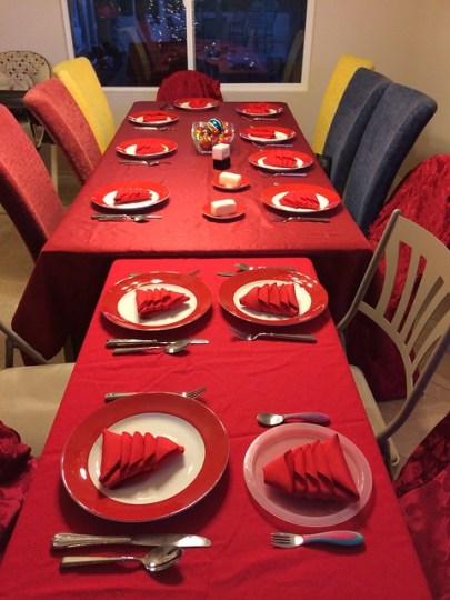 my Christmas table