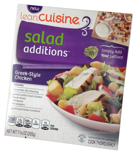 Quick review lean cuisine salad additions greek style for Average price of lean cuisine