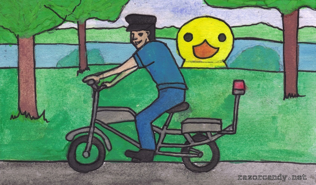 07-09-2013 gaint rubber duck (2) bike -  coloured