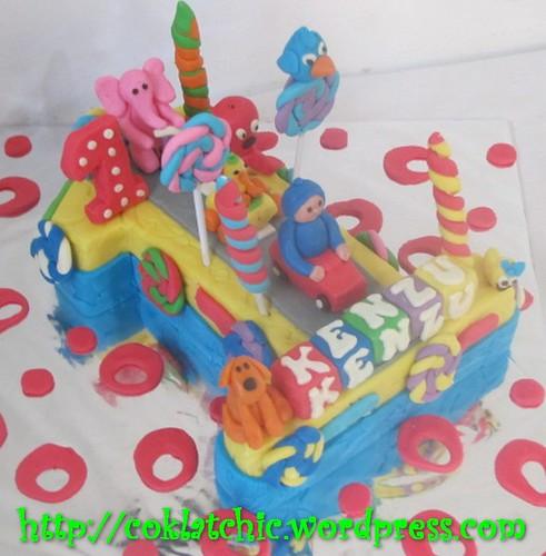 Cake Angka 1 dan Pocoyo