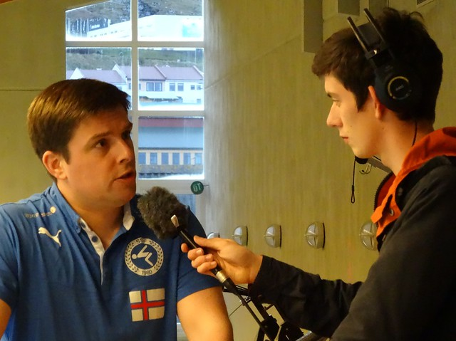 Me being interviewed by Faroese radio